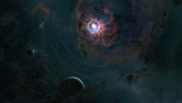 Картинка космос арт звезды планеты the last throes digital