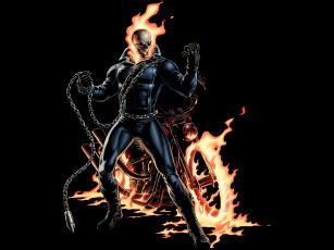 Картинка ghost rider рисованные комиксы комикс рисунок призрачный гонщик