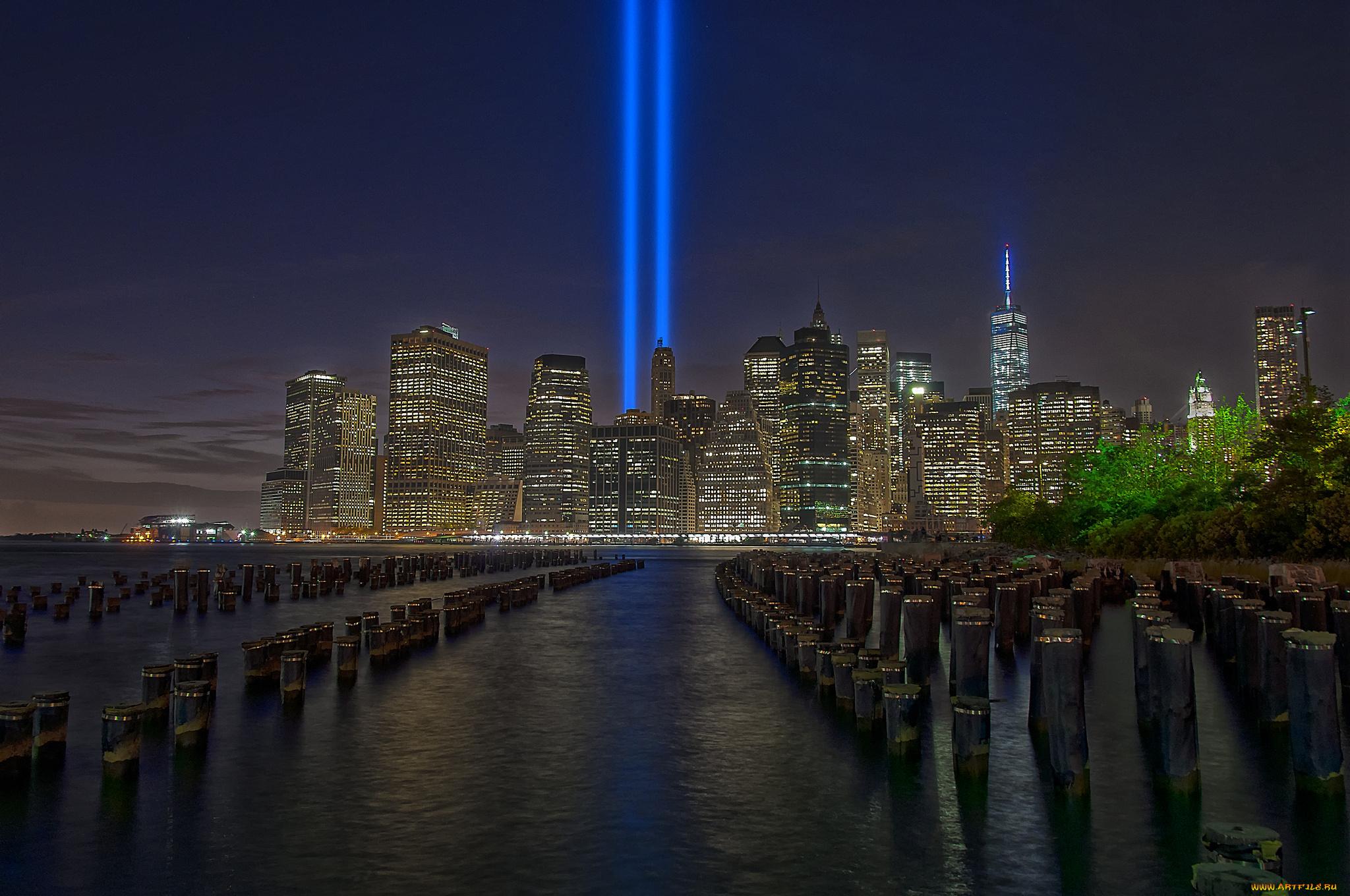 город ночь освещение отражение  № 3927645  скачать