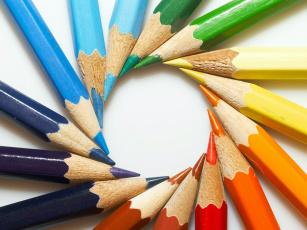 обоя разное, канцелярия,  книги, pencils, circle, white, wood, graphite, цвет, карандаши, colors
