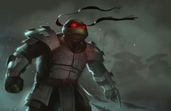 Картинка рисованное кино raphael tmnt teenage mutant ninja turtles черепашка ниндзя арт броня