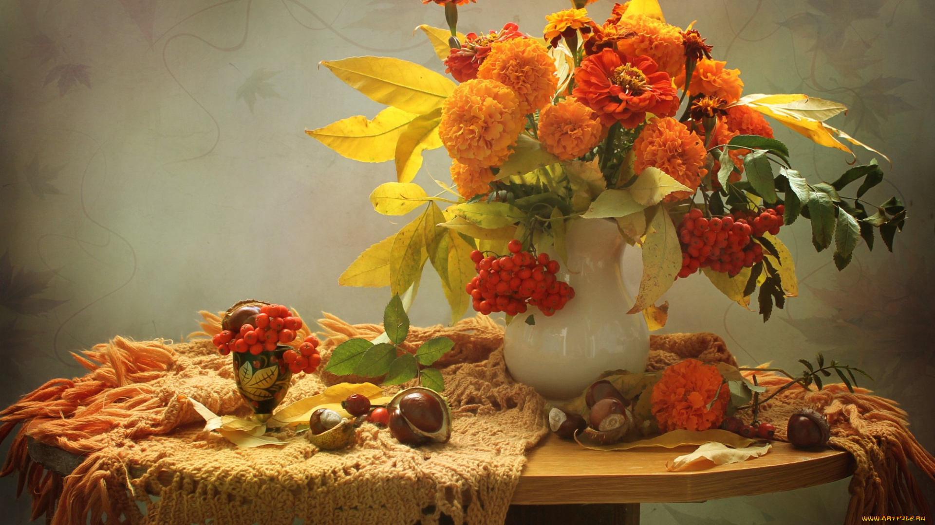 Осенний букетик картинки с добрым утром