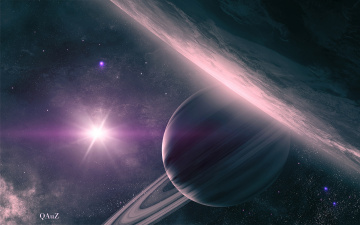 обоя космос, арт, галактика, вселенная, планета