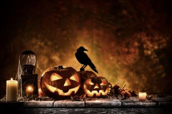 обоя праздничные, хэллоуин, праздник, свечи, хэлуин, тыквы