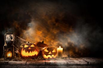 обоя праздничные, хэллоуин, свечи, хэлуин, тыквы, праздник