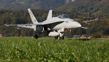 обоя авиация, боевые самолёты, хорнет, трава, истребитель, аэродром, hornet, cf-18