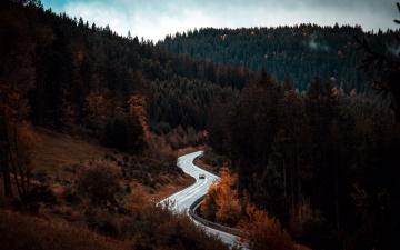 обоя природа, дороги, серпантин, шоссе