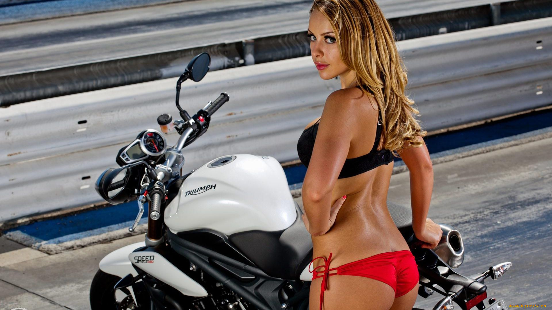 Two sexy vintage custom motorcycles cafe stock photo