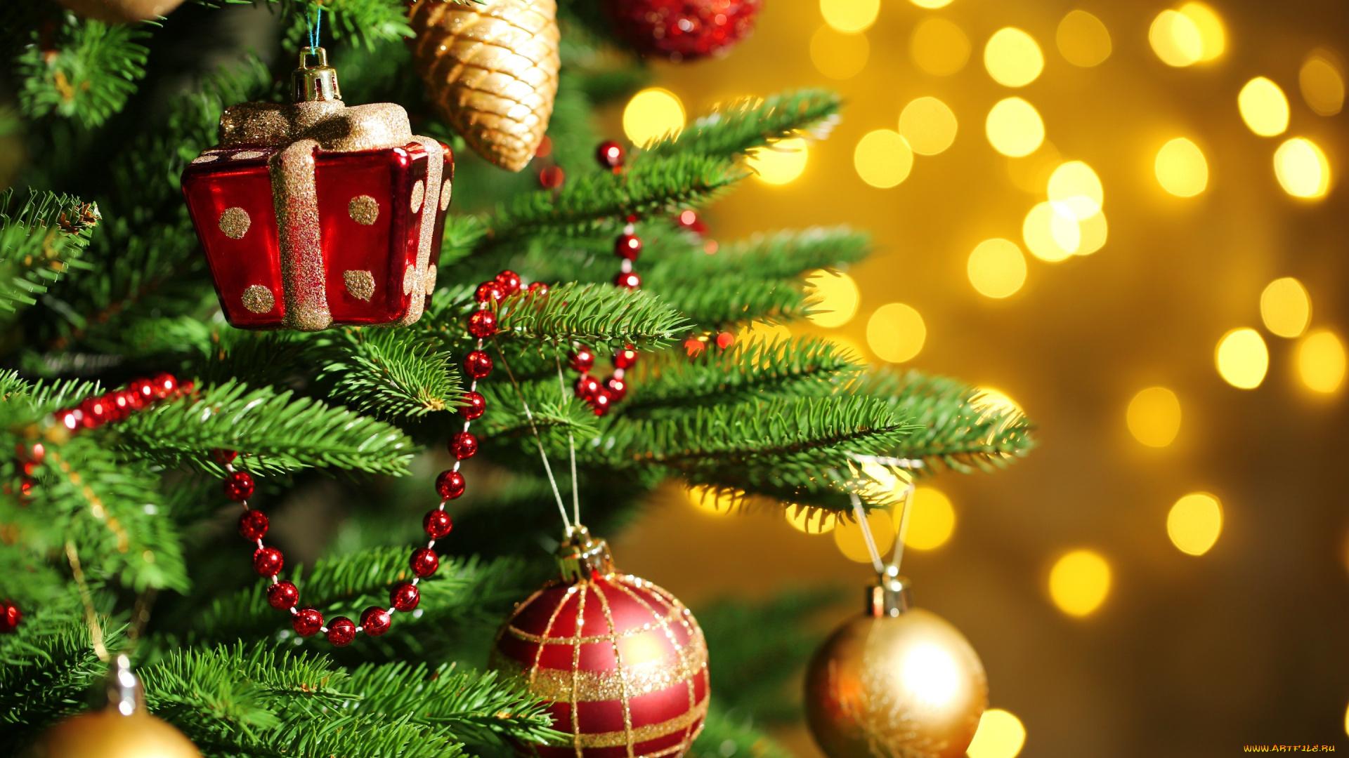 Новогодние открытки на елку