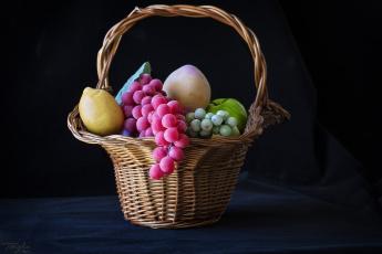 Картинка разное ремесла +поделки +рукоделие корзина ягоды муляж фрукты