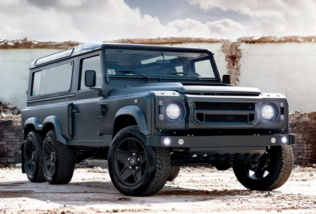 Обои картинки фото kahn design flying huntsman 6x6 land-rover defender 2017, автомобили, land-rover, design, flying, kahn, 2017, defender, huntsman, 6x6