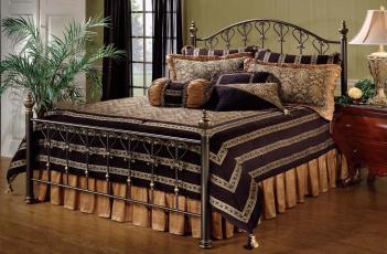 Картинка интерьер спальня тумбочка пальма окно комната кровать светильник