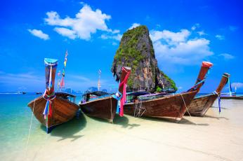 обоя корабли, лодки,  шлюпки, тропики