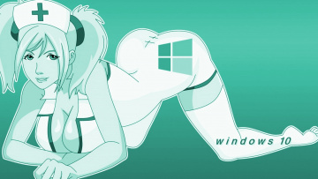 обоя компьютеры, windows  10, фон, взгляд, девушка