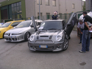 обоя mini, cooper, seat, leon, автомобили, разные, вместе