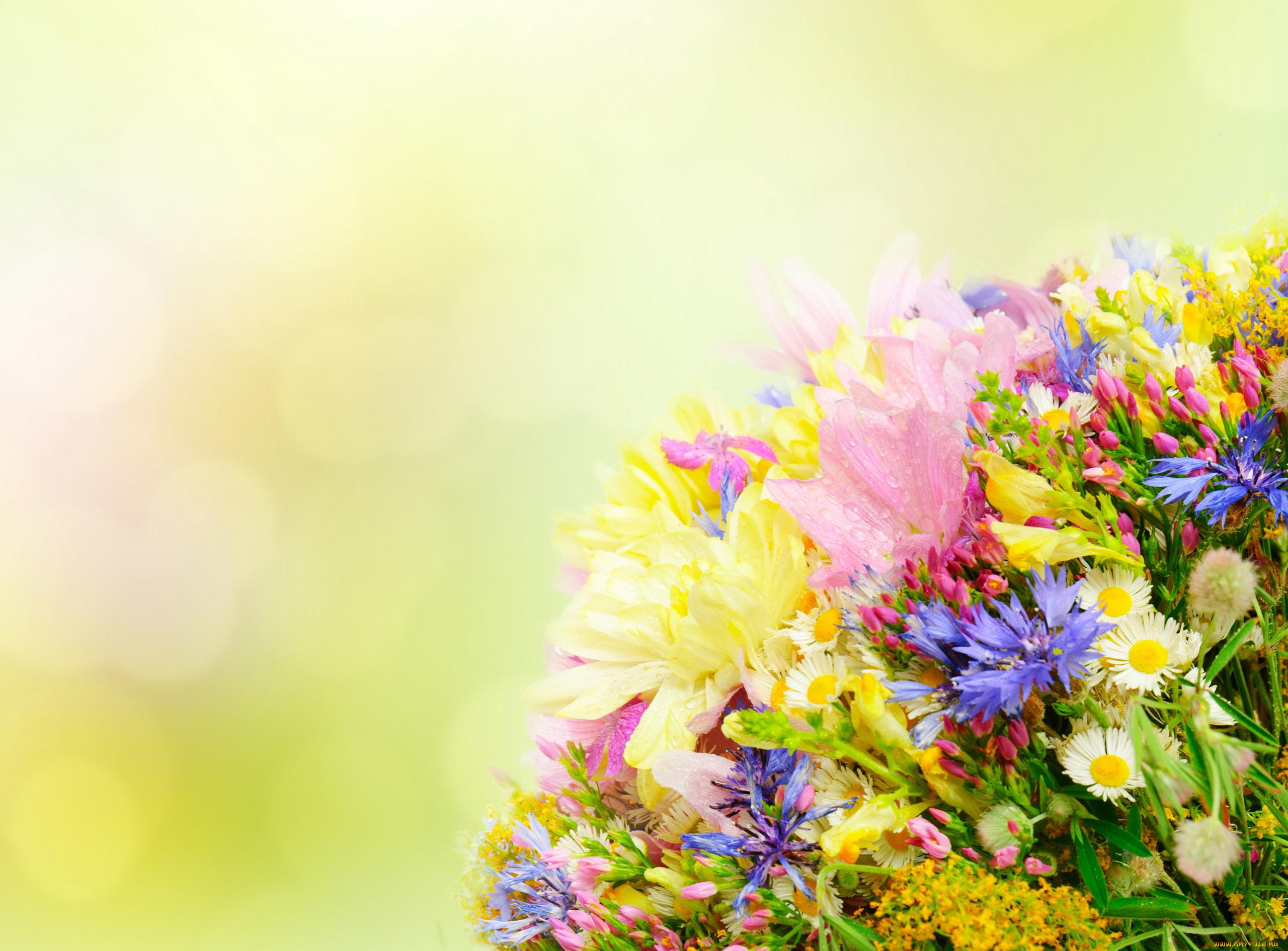 Крестной, открытка на фоне цветов