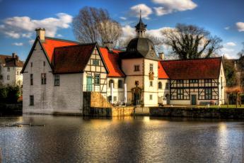 Картинка dortmund haus rodenberg города дворцы замки крепости деревья здания река