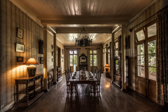 обоя eureka - la maison creole, интерьер, столовая, мебель, комната