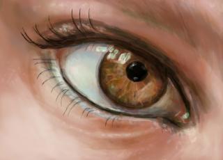 обоя рисованное, люди, глаз, ресницы