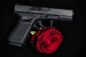Картинка оружие пистолеты боевой пистолет глок роза glock