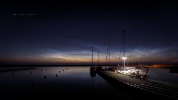 обоя корабли, Яхты, море, ночь, яхта