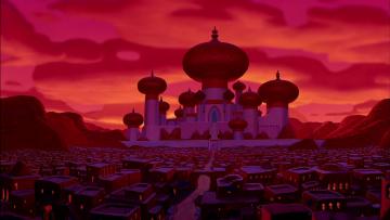 обоя мультфильмы, aladdin, замок