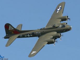 Картинка авиация боевые самолёты boeing+b-17+flying+fortress