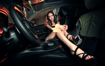 Картинка автомобили -авто+с+девушками девушка взгляд фон автомобиль азиатка
