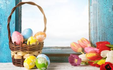 Картинка праздничные пасха весна яйца