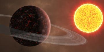 обоя космос, солнце, вселенная, планеты, звезды, галактика