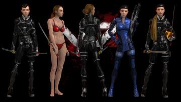 обоя видео игры, mass effect - occitania,  dae hyun and cassius, персонажи