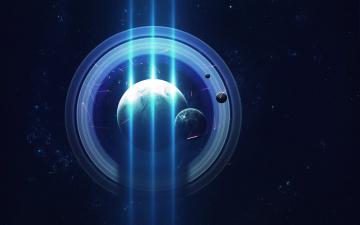 обоя космос, арт, галактика, вселенная, звезды, планета