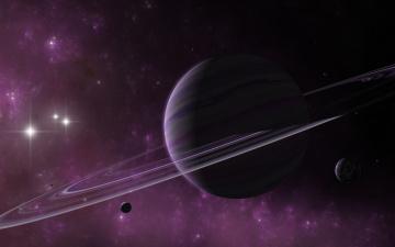 обоя космос, арт, галактика, звезды, планеты, вселенная