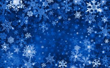 обоя векторная графика, природа , nature, фон, зима, снежинки, снег, графика
