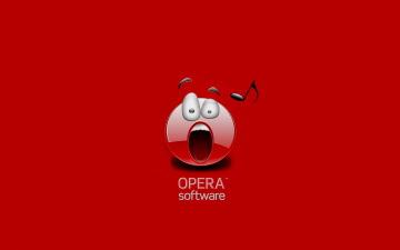 Картинка компьютеры opera фон логотип