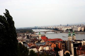 Картинка города будапешт+ венгрия здания мост река