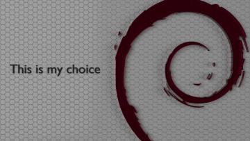 Картинка компьютеры debian логотип фон