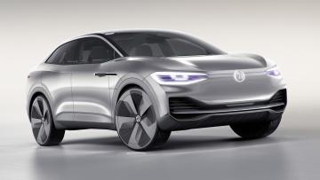 обоя volkswagen i,  crozz concept 2017, автомобили, 3д, volkswagen, i, d, crozz, concept, 2017