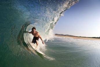 Картинка спорт серфинг серфингист волна мексика океан