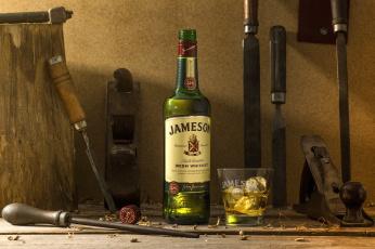 обоя бренды, бренды напитков , разное, долото, напильник, виски, инструменты, алкоголь, бутылка, стакан, лед