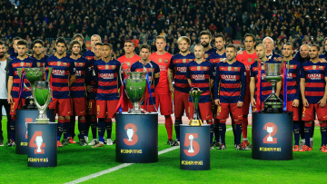 обоя barca trophy, спорт, футбол, торфей, trophy, barca