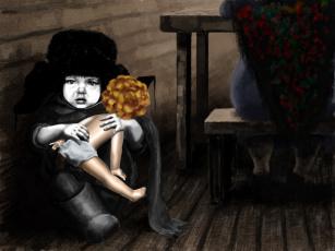 Картинка куклу вам не отдам рисованные дети