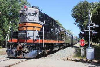 Картинка техника поезда рельсы дорога железная состав локомотив