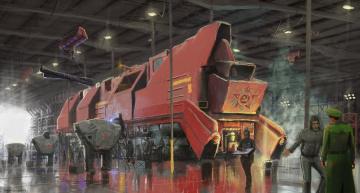 Картинка фэнтези транспортные+средства локомотив