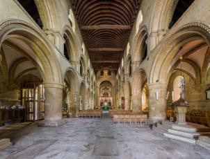 Картинка southwell+minster+nave интерьер убранство +роспись+храма храм