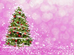 обоя праздничные, 3д графика , новый год, фон, елка