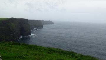 обоя природа, побережье, трава, скалы, море