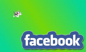 обоя компьютеры, facebook, фон, логотип