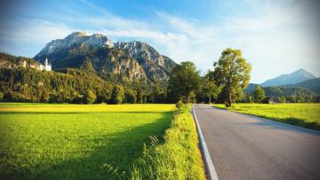 Картинка природа дороги поле дорога