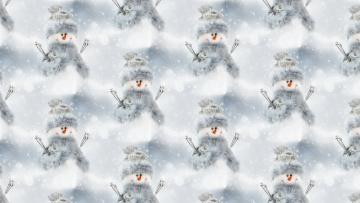 обоя праздничные, векторная графика , новый год, праздник, текстура, фон, новый, год, снеговик